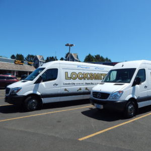 Our locksmith service vehicles in Newport.